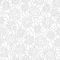 Monochrome fungus seamless pattern eps Royalty Free Stock Image