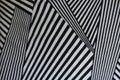 Monochrome geometric pattern on fabric Royalty Free Stock Photo