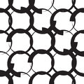 Monochrome geometric pattern vector seamless Stock Image