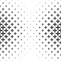 Monochrome geometrical pattern - abstract vector background graphic design