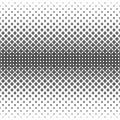 Monochrome geometrical pattern - abstract vector background illustration from curved shapes