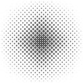 Monochrome geometrical pattern - vector background illustration from curved shapes