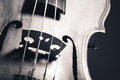 Monochrome image of hand crafted violin Royalty Free Stock Photo