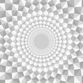 Monochrome mosaic background effect of optical illusions Stock Photo