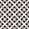 Monochrome ornamental pattern in arabian style. Floral geometric