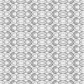 Monochrome ornate seamless pattern