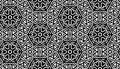 Monochrome pattern with flowers Royalty Free Stock Photos