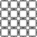 Monochrome pattern with ornament seamless ornamental texture for web print wallpaper wrapping textile design scrapbooks Stock Photography