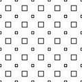 Monochrome seamless abstract geometrical square pattern