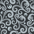 Monochrome seamless floral wallpaper pattern. Royalty Free Stock Photo