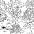 Monochrome seamless pattern Stock Photography