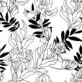 Monochrome seamless pattern Royalty Free Stock Images