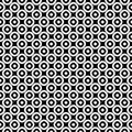 Monochrome seamless pattern, circles texture