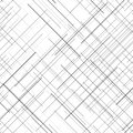 Monochrome seamless pattern. Diagonal random lines. Abstract texture.
