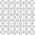 Monochrome seamless pattern with repeated crosses diamonds and polygons vector illustration Stock Photos
