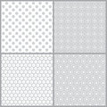 Monochrome seamless pattern set of simple geometric patterns with different forms of the circle vector illustration Stock Photos