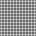 Monochrome seamless pattern, traditional geometric texture