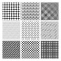 Monochrome seamless patterns Stock Image