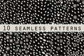 10 monochrome seamless patterns with drops. The pattern for wallpaper, tiles, fabrics and designs. Royalty Free Stock Photo