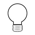 Monochrome silhouette with light bulb