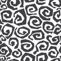Monochrome spiral seamless pattern eps Royalty Free Stock Photos