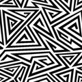 Monochrome spiral triangle seamless pattern Royalty Free Stock Photo