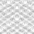 Monochrome striped lines background. Intersecting diagonal monochrome texture. Seamless hand drawn vector pattern.