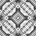Monochrome Tribal Seamless Pattern. Aztec Style Abstract Geometric Art Print. Royalty Free Stock Photo