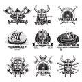 Monochrome Viking Labels Set