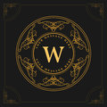 Monogram design elements, graceful template. Elegant line art logo design. Emblem Letter W. Retro Vintage Insignia or Logotype. Bu