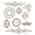 Monograms,line design elements for logos, frames