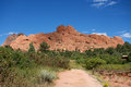 Monolith Wall in Garden of the Gods Royalty Free Stock Photo