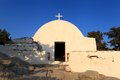 Monolithos Castle Church Stock Image