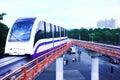 Monorail fast train on railway Stock Image