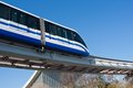 Monorail train modern fast on railway moscow russia Stock Images
