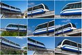 Monorail train modern fast on railway moscow russia Stock Photo