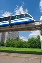 Monorail train modern fast on railway moscow russia Stock Image