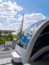 Monorail Train In Moscow, Russia Royalty Free Stock Photos