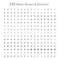 Monotone metro arrows and direction vector illustration Stock Photo