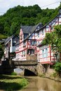 Monreal most beautiful town in rhineland palatinate is a the valley of the elz and is one of the village Royalty Free Stock Images