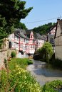 Monreal most beautiful town in rhineland palatinate is a the valley of the elz and is one of the village Stock Images