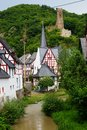 Monreal most beautiful town in rhineland palatinate is a the valley of the elz and is one of the village Stock Image