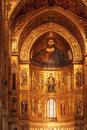 Monreale palermo italy june interior shot of the famous cathedral santa maria nuova of on june in near palermo Stock Images