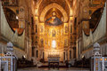Monreale palermo italy june interior shot of the famous cathedral santa maria nuova of on june in near palermo Royalty Free Stock Photography