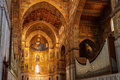 Monreale palermo italy june interior shot of the famous cathedral santa maria nuova of on june in near palermo Stock Photo