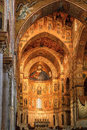 Monreale palermo italy june interior shot of the famous cathedral santa maria nuova of on june in near palermo Royalty Free Stock Image