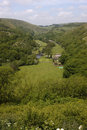 Monsal dale a view across derbyshire uk Stock Image