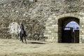 Monsaraz απριλίου κατάρτιση α όγων στην πό η του α εντέιο monsaraz Στοκ φωτογραφία με δικαίωμα ελεύθερης χρήσης