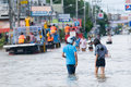 Monsoon flooding in Nakhon Ratchasima, Thailand Stock Photos