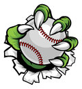 Monster or animal claw holding Baseball Ball Royalty Free Stock Photo